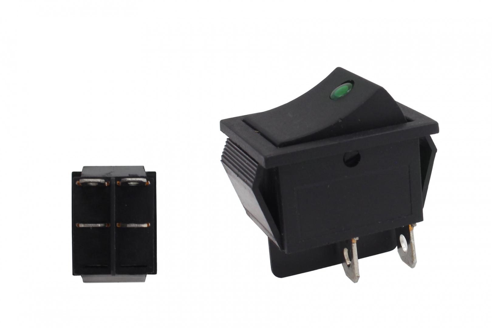 Włącznik rocker led 4 PIN Green - GRUBYGARAGE - Sklep Tuningowy